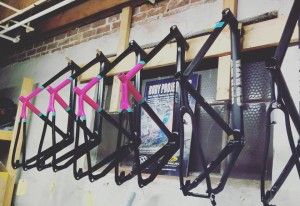 Grava Bikes, straight from the paint booth.
